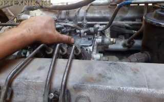 Установка тнвд на двигатель камаза схема