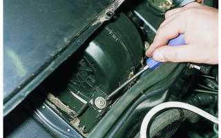 Как поменять моторчик печки на ваз 2107