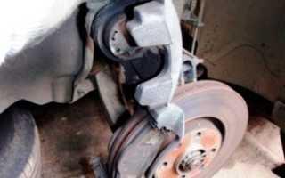 Замена задних тормозных дисков пежо 308