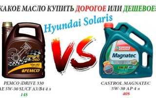 Какое масло заливать в двигатель хендай солярис