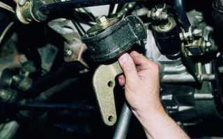 Ваз 2115 как менять опоры двигателя