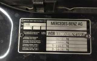 Что означает номер двигателя мерседес